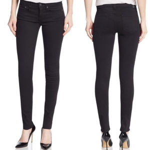 Vince Dylan Skinny Waxed Black Jeans size 25